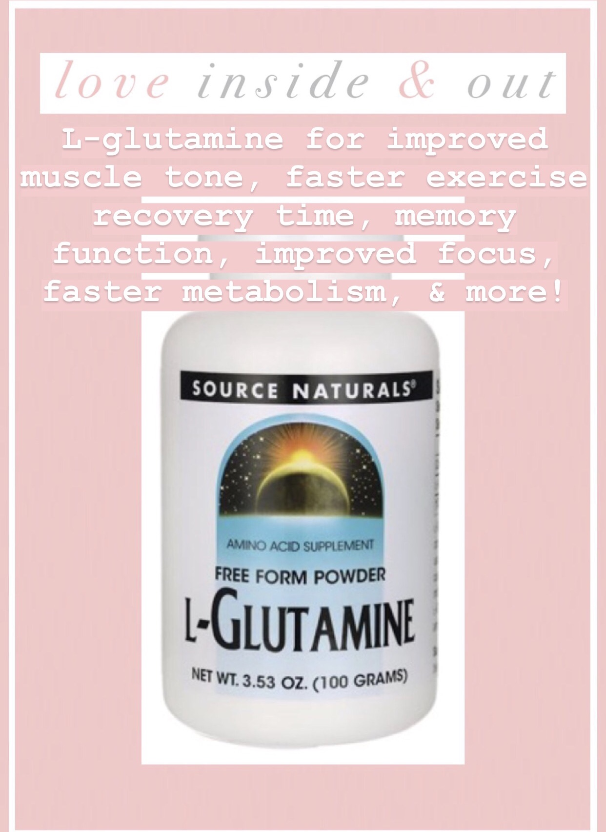 SUPPLEMENT SPOTLIGHT: L-GLUTAMINE!!