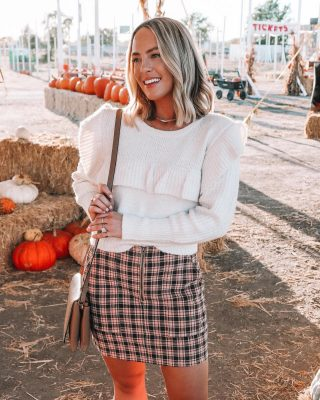 "One of my favorite places to shop for fall clothing and just to shop in general is @targetactually 🍁🙌🏻 I love when someone asks where something is from and I reply, ""oh- it's from target, actually! 😉😉😉"" you can truly find the CUTEST items and such great prices. This skirt is $17 and fits like a charm! follow the new IG account for your favorite target finds, @targetactually + shop this look via http://liketk.it/2YNc2 #liketkit @liketoknow.it #fallstyle #targetactually #ad #targetstyle"