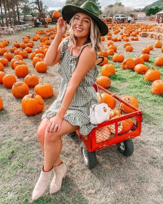 Annual pumpkin patch trip! 🎃🍁 gotta do it every year 💁🏼‍♀️went way overboard on the pumpkins to decorate the porch which I plan on doing today! 🥰 was so excited to share this dress that is under $30+ SO adorable for fall 👉🏻 can be found here + on my story 🍁 http://liketk.it/2Ytu6 #liketkit @liketoknow.it #ltkfall