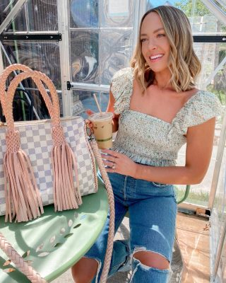 Happy weekend 😍 this weekend is always one of my favorites of the year ☀️my bag is on major sale - 30% off and extra 10% savings with code taylorlove10 @vintagebohobags upcycled LV & top is part of an amazon set for $30! I hope you are having a beautiful start to the long weekend 🤍 http://liketk.it/3gpBg #liketkit @liketoknow.it #weekendstyle