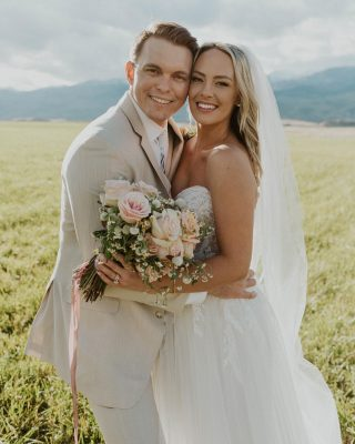 """9.20.21 🤍✨🏔💍💖 the absolute best day of our lives 😭😭😭 I'm sure everyone says that but I couldn't mean it more than I do!!! after the last few years trying to get married but having to change our wedding plan and then moving to Montana, everything came together in the most beautiful magical way. Our wedding day was better than I could have ever imagined and was one of the few times in my life where time completely stood still and I was just filled with absolute complete 100% joy. I honestly imagine that that feeling is what """"heaven"""" feels like. Ugh it was so special and I am so thankful 😭😭😭 the BIGGEST thank you to all of our friends, family, & loved ones who made the trip to MT. Also a huge huge thank you to our dream team of vendors — @staceygoodsfarmandevents (incredible wedding planner & friend) @thewildblume (made all my floral dreams come true) @beautybym_ (hair & makeup that made us all feel like goddesses), @sagelodge (the most amazing place to get married & have all of our guests stay / vacation for a few days), @ingridsvarephotography (she shot our wedding on iPhone so we could have BTS to share from an intimate iPhone perspective), & HUGE THANK YOU to @shannonyenphotography for our wedding day photos!!! SO many more to come as I start a little """"wedding day"""" series here 🥰🤍💍✨ #wedding #montanawedding #mtwedding #sagelodgewedding #weddingdress #weddingday #bride #groom #husband #wide #weremarried"""